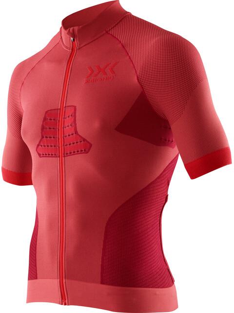X-Bionic Race EVO Biking Shirt SS Men Dark Red/Red